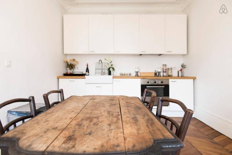 Réhabilitation totale d'un appartement haussmannien à Paris 9 : photo 5D cuisine a