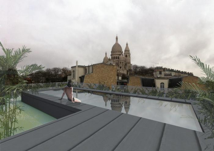 Hotel Montmartre : vue toiture