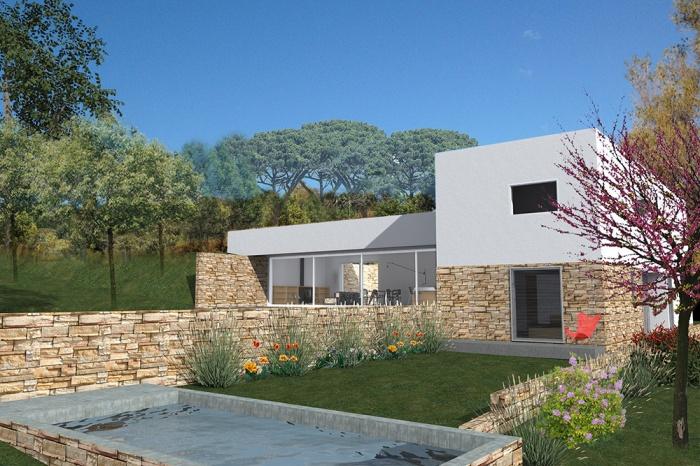 Maison d 39 architecte basse consommation nerg tique bandol for Maison tres basse consommation